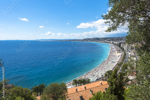 Aerial view of Nice coast