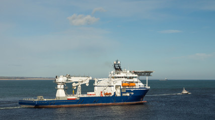 Offshore Supply Ship with Pilot Boat