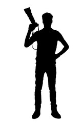 Silhouette of photographer.