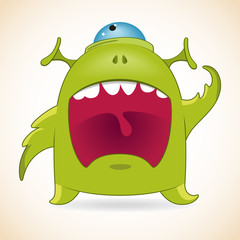 Screaming monster
