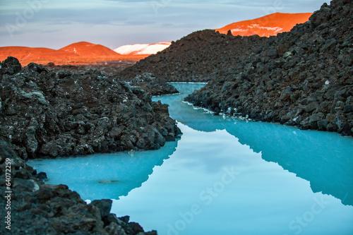 Staande foto Scandinavië Blue lagoon