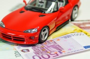 Reichtum, schnelles Auto