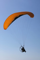 paraglider with engine