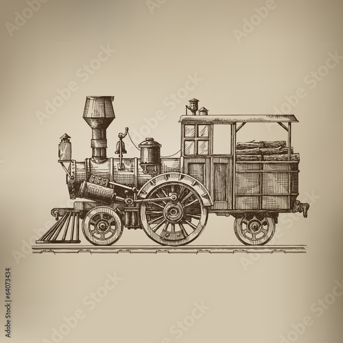 Locomotive. Vector format