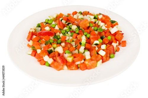 Dish with vegetable mix