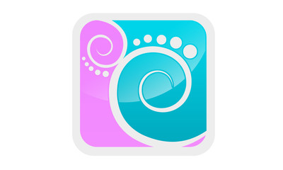 curl footstep icon