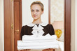 chambermaid at hotel service