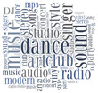 Word cloud concept music related