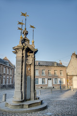 Pilory Well Fountain in Mons, Belgium.