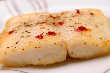 Catfish filet on a plate