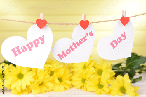 Happy Mothers Day message written