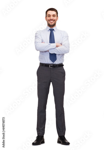 handsome buisnessman with crossed arm