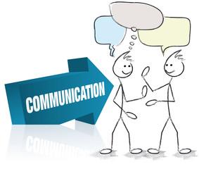 flèche et personnages communication