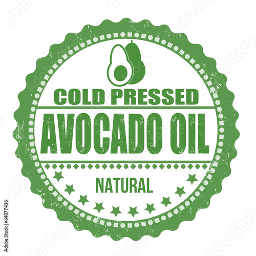 Avocado oil stamp