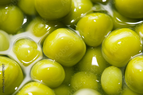 green peas as a background. macro