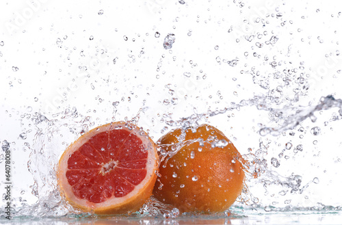 Grapefruit with water splash