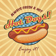American hot dog poster template - 64079855