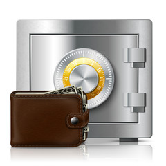 Leather wallet and safe with code lock