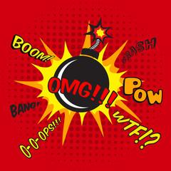 Comic bomb explosion poster