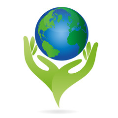 Hände, Erde, Globus, Weltkugel
