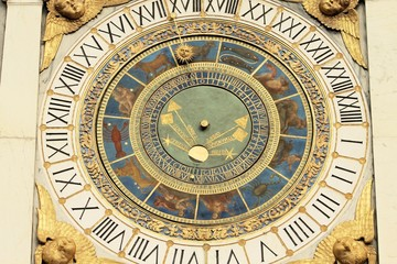 astronomical clock in  Brescia (Lombardy -Italy)