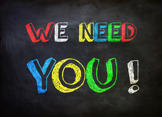 We need you !