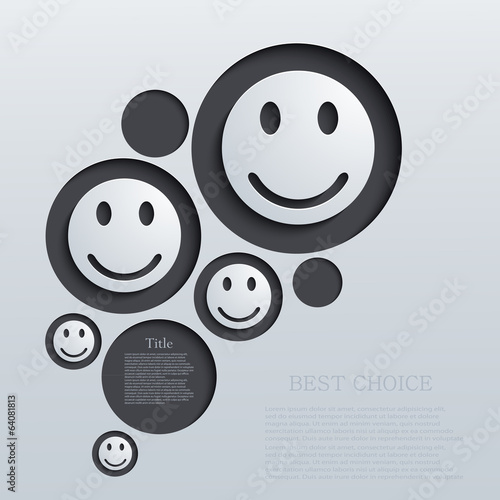 vector modern emotions background