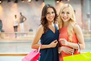 Women shopping.