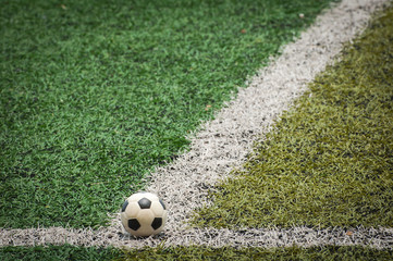 Mini Soccer ball at the Artificial turf