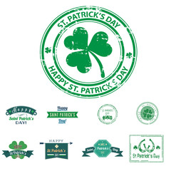 St. Patrick's day symbol icon label ticket