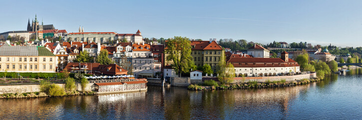 Panorama of historic center of Prague:  Gradchany (Prague Castle