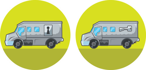 Armored car icon