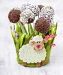 Easter chocolate cake pops