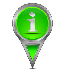 Pin Pointer mit Information Symbol