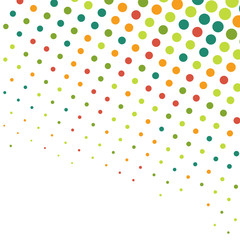 Abstract dotted colorful background