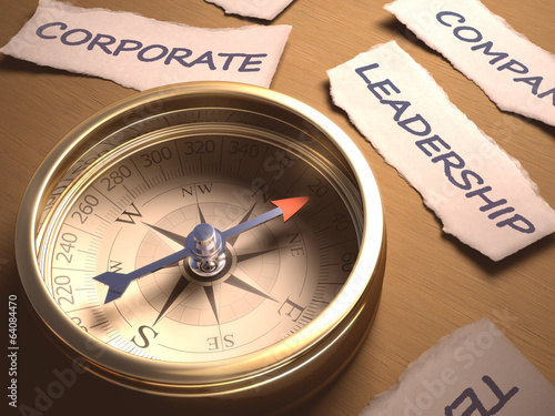 Compass Leadership. Clipping path included.