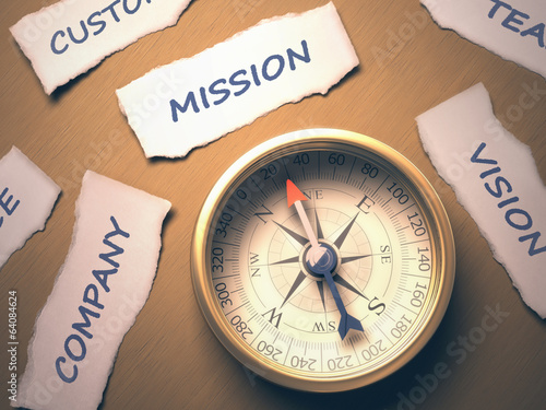 Compass Mission. Clipping path included.