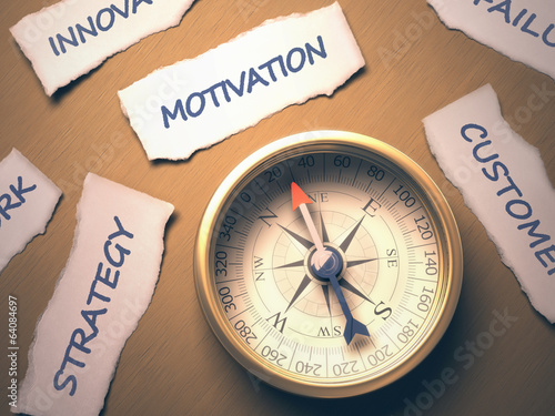 Compass Motivation. Clipping path included.