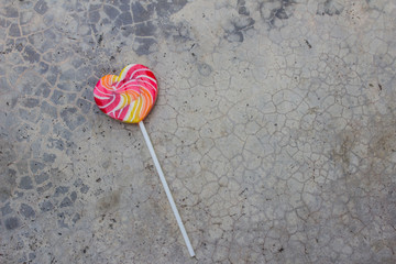 lollipops on a stone background