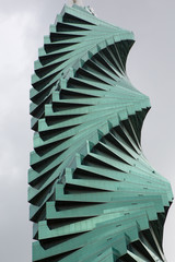 Twisted sky scraper in Panama City