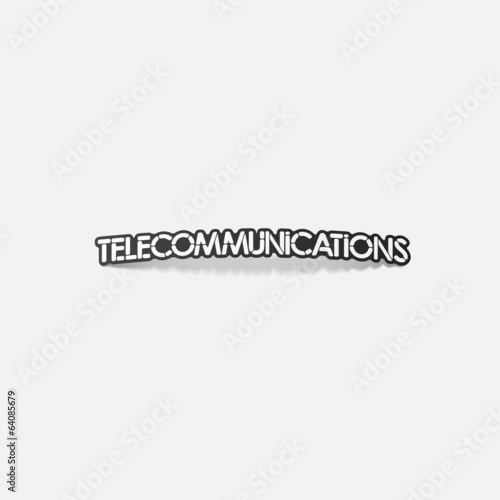 realistic design element: telecommunications