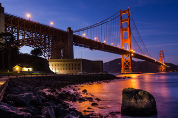 Golden Gate Bridge Twilight