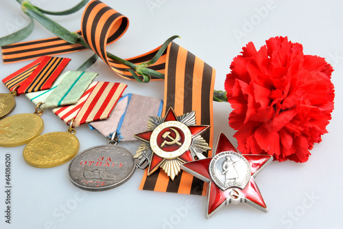Flower, Saint George ribbon, military awards of Great war