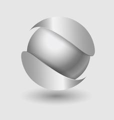 Silver ball elegant icon