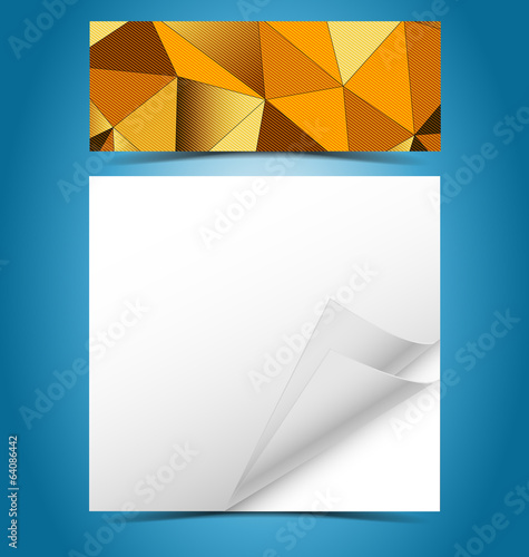 Mosaic gradient geometric background with presentation template