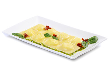 Ravioli with spinach and Rikotta