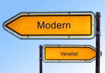 Strassenschild 5 - Modern