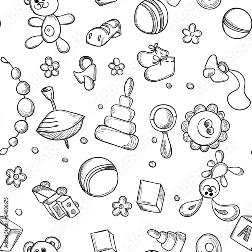Seamless children background