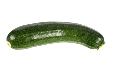 Green zucchini  isolated on white background