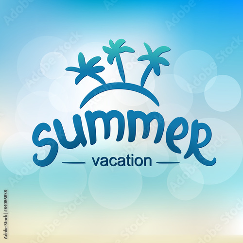 Summer vacation - typographic design